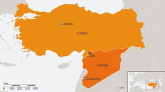 Karte Syrien Afrin Türkei DEU