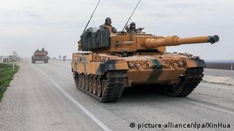 Произведенный в ФРГ танк турецкой армии на севере Сирии