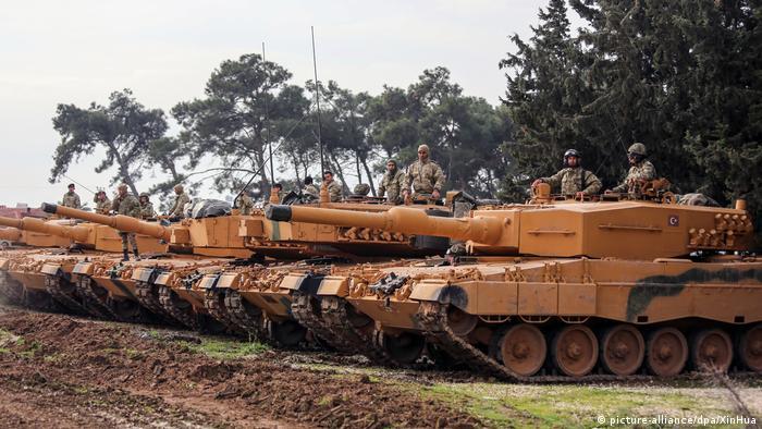 Türkische Offensive in Nordsyrien Leopard 2A4 Panzer