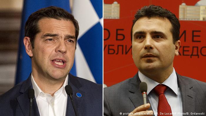 Bildkombo Alexis Tsipras und Zoran Zaev