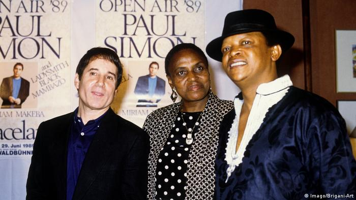 Paul Simon, Miriam Makeba, Hugh Masekela (Imago/Brigani-Art)