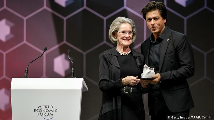 Schweiz Davos - Bollywood Schauspieler Shah Rukh Khan beim zum World Economic Forum (WEF) (Getty Images/AFP/F. Coffrini)