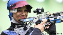 Elahe AHMADI, iranische Weltmeisterin im Sportschießen