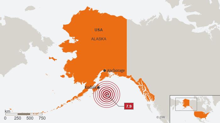 Karte Alaska Erdbeben 23. Januar 2018 ENG