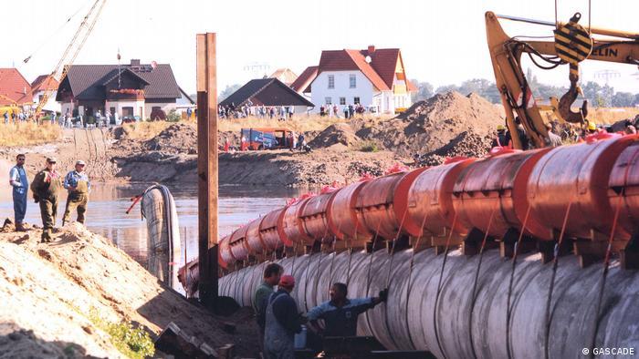 Прокладка газопровода компанией Gascade