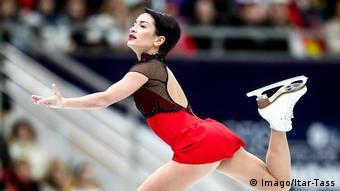 Xenia Stolbowa at the European Figure Skating Championships