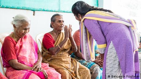 Four women in a seniors' home in India