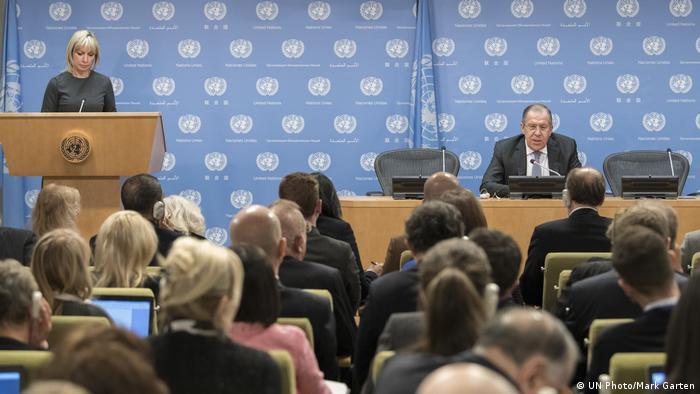 Konferencija za novinare ruskog ministra vanjskih poslova Sergeja Lavrova održana u New Yorku
