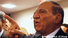 FILE PHOTO: Egypt's former army chief of staff Sami Anan speaks during a news conference at his office in Cairo, March 13, 2014. REUTERS/Mohamed Abd El Ghany/File photo