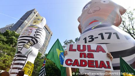 Proteste Lula Brasilien (picture-alliance/dpa/ZUMAPRESS/C.Faga)