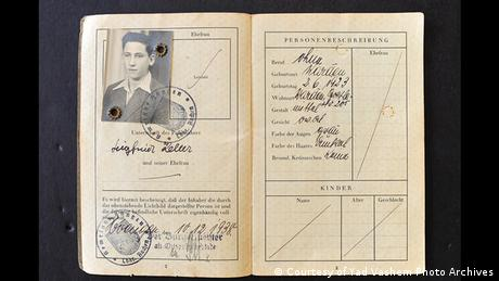 Pasaporte de Sigfried Keller.