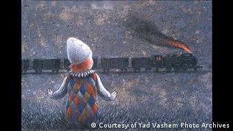 Транспорт №2 - картина израильского художника Поля Кора в музее Яд Вашем в Иерусалиме