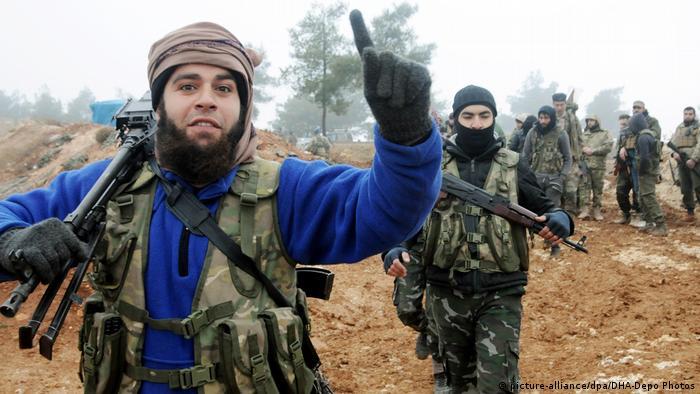 Turkish troops in Afrin
