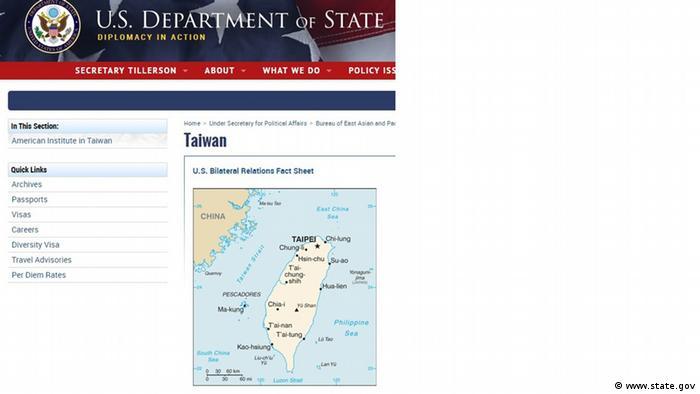 Screenshot Webseite von US Behörden (www.state.gov)
