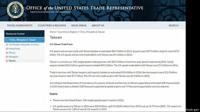 Screenshot Webseite von US Behörden (<a href=