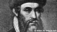 Retrato de Johannes Gutenberg