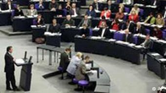 Bundestagsdebatte Schröder