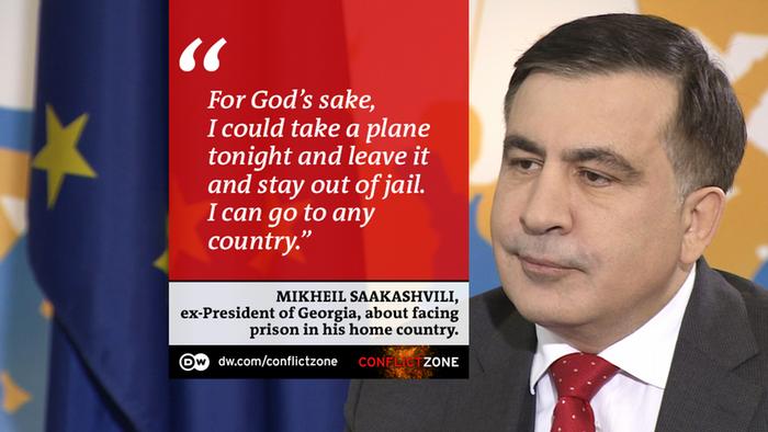 DW Conflict Zone - Zitattafel Micheil Saakaschwili
