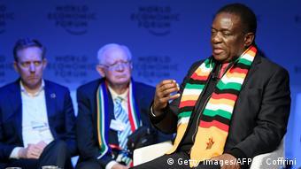 Davos WEF Emmerson Mnangagwa zu Wahlen Simbabwe