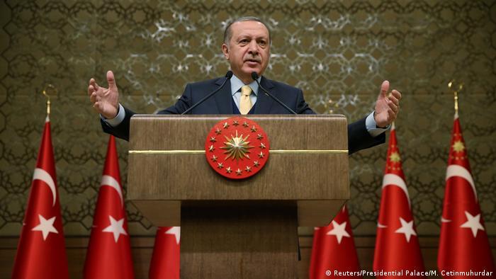 Türkei Präsident Tayyip Erdogan in Ankara (Reuters/Presidential Palace/M. Cetinmuhurdar)