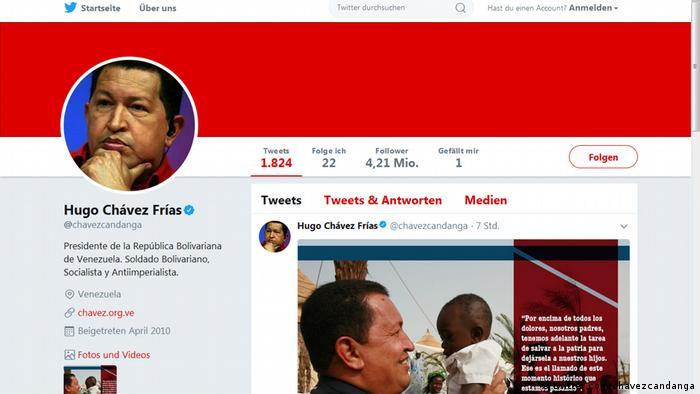 Screenshot Twitter Hugo Chávez (@chavezcandanga) (twitter.com/chavezcandanga)
