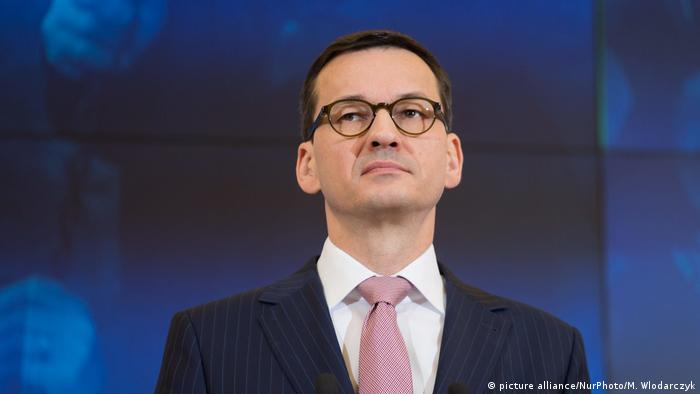 Prime Minister Mateusz Morawiecki at the press conference in Warsaw