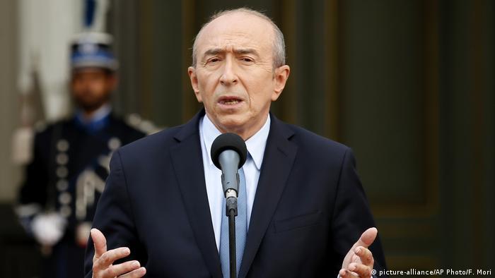 Frankreich Interior Minister Gerard Collomb