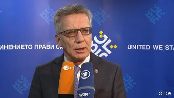 Bulgarien EU-Innenminister tagen zu blockierter Asylreform und Grenzschutz in Sofia   Thomas de Maizière