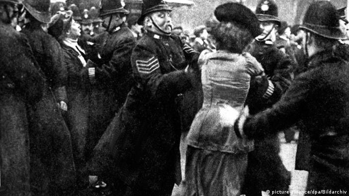 Uk Suffragette with British police