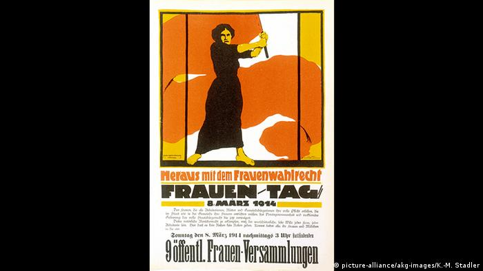 German women's suffrage poster from 1914