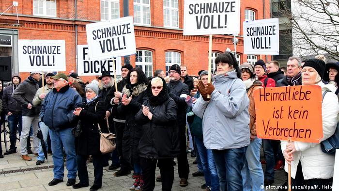 Deutschland Demonstration in Cottbus