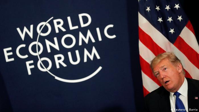 Weltwirtschaftsforum 2018 in Davos | Donald Trump, Präsident USA (Reuters/C. Barria)