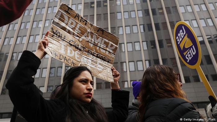 USA Protest gegen Shutdown und für DACA in New York (Getty Images/S. Platt)