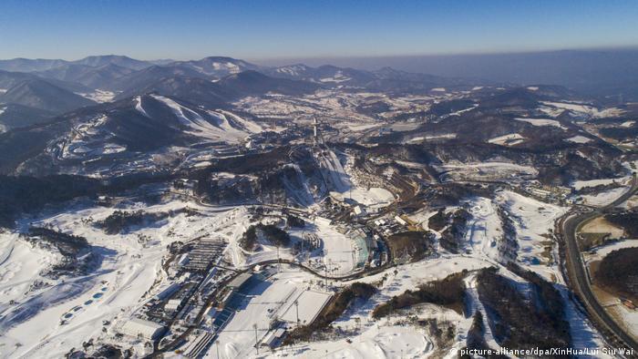 Bildergalerie Sportstätten Pyeongchang 2018 - Pyeongchang-Gebirgscluster (picture-alliance/dpa/XinHua/Lui Siu Wai)