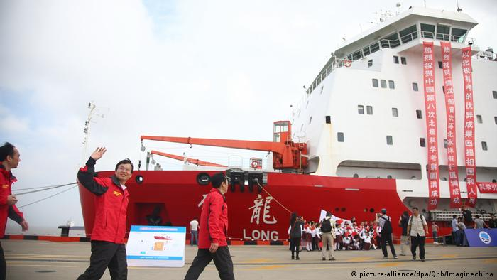 China has only one icebreaker, dubbed the Xuelong or Snow Dragon. In October, it returned from an 83-day research expedition to the Arctic.