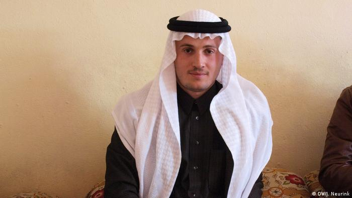 Sheikh Ahmed al-Muheiri in his reception room in Hawija
