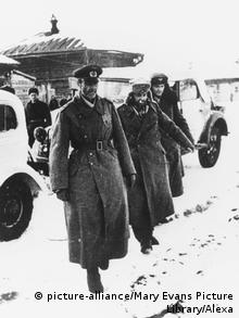 A photo of General Paulus wearing a thick army coat.