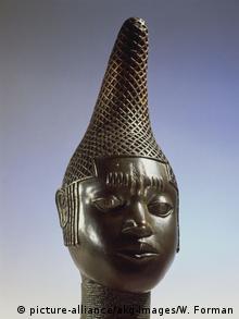 Benin Bronzeskulptur