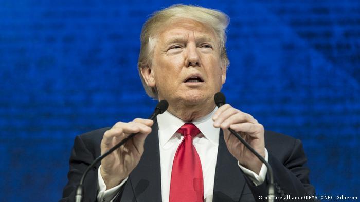 Schweiz Weltwirtschaftsforum in Davos   US-Präsident Donald Trump (picture-alliance/KEYSTONE/L.Gillieron)