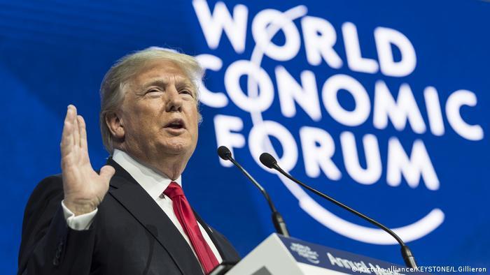 Schweiz Weltwirtschaftsforum in Davos | US-Präsident Donald Trump (picture-alliance/KEYSTONE/L.Gillieron)