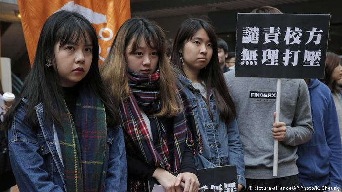 Hong Kong - Stundenten Protestieren (picture-alliance/AP Photo/K. Cheung)