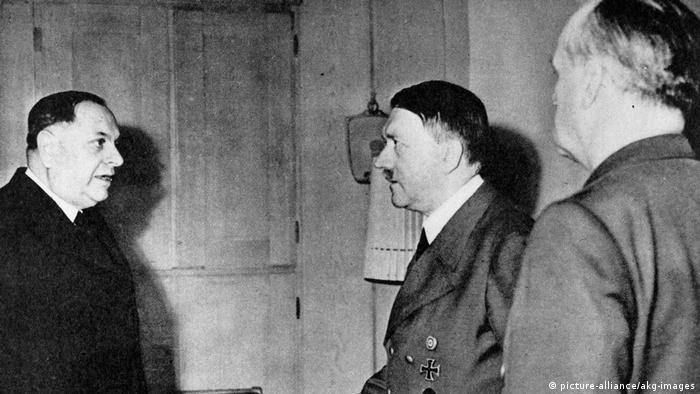 Hitler empfängt Milan Neditsch, 1943.