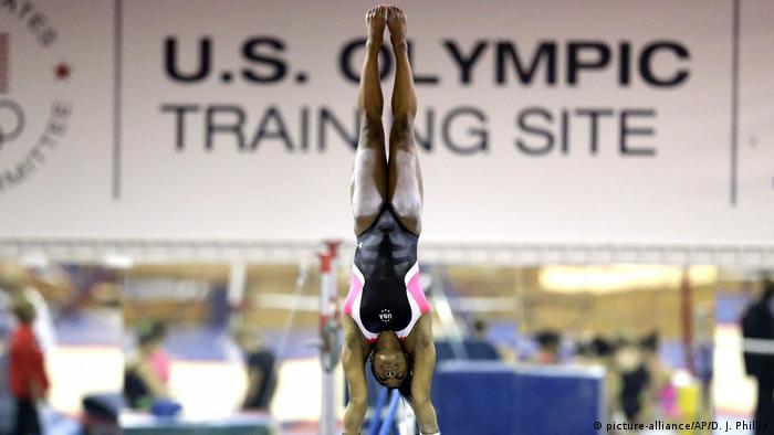 US gymnast Simone Biles training in Texas in 2015