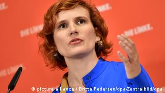 Germany's Left party leader, Katja Kipping (picture alliance / Britta Pedersen/dpa-Zentralbild/dpa)