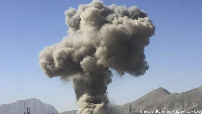 Rauchwolke über Kabul