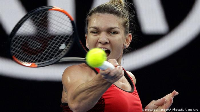 Simona Halep Tennis Australian Open (picture-alliance/AP Photo/D. Alangkara)