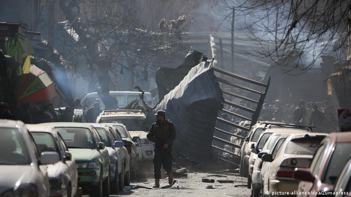Наслідки вибуху в Кабулі