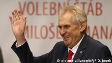 Tschechien Sieger der Präsidentschaftswahlen Milos Zeman
