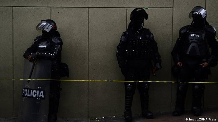 Symbolbild Polizei in Kolumbien Bogota (Imago/ZUMA Press)