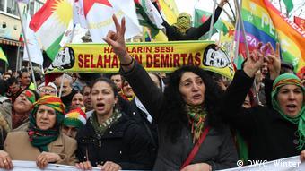 Kurdish demo, Cologne (DW/C. Winter)
